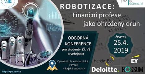 HandyBot na konferenci Finanční profese jako ohrožený druh: Robotizace