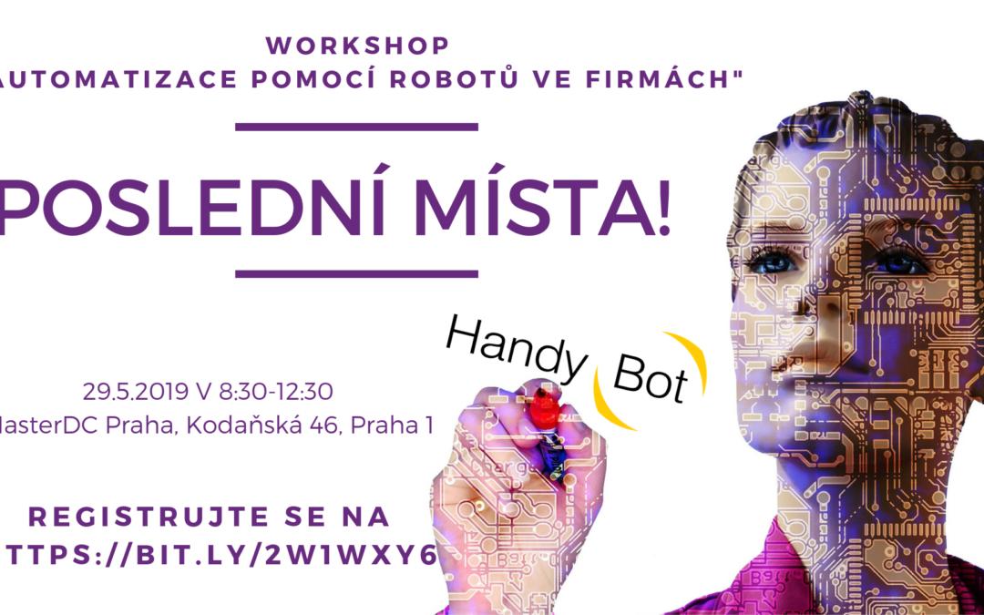 Nezmeškejte Workshop o automatizaci ve firmách!