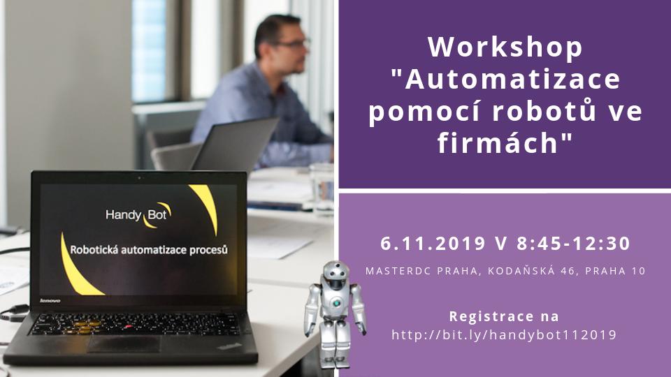 Podzimní workshop o automatizaci procesů 6.11.2019